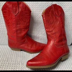 Cute Nine West red boots size 7